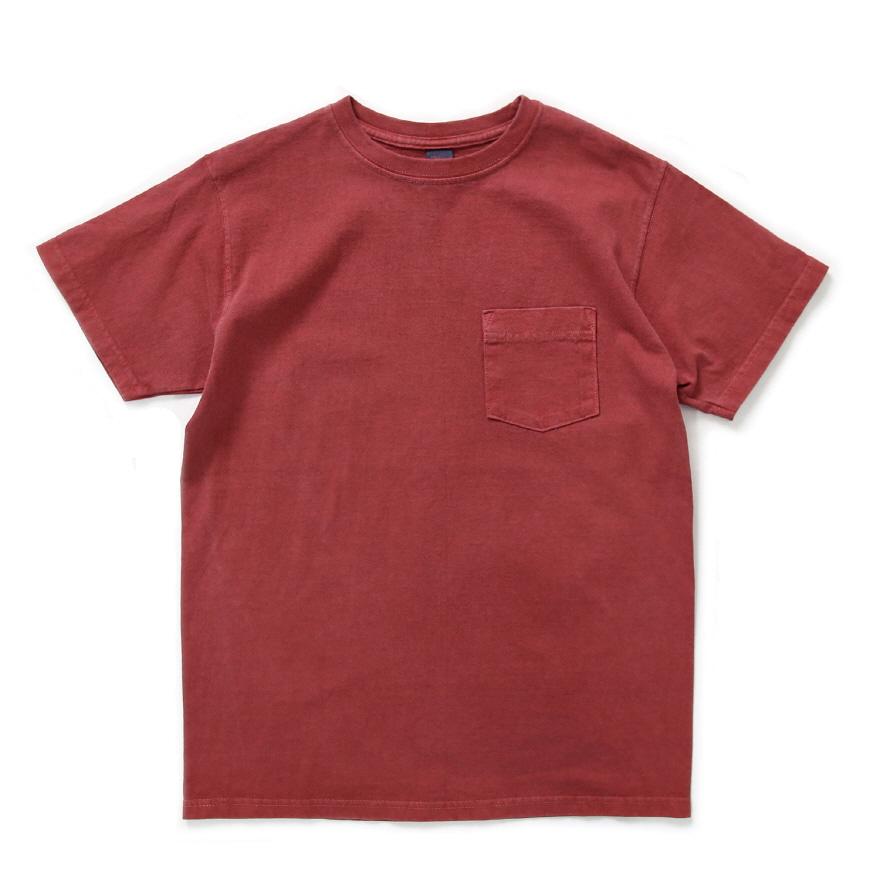 5.5oz 포켓 반팔 티셔츠 - 피그먼트 레드