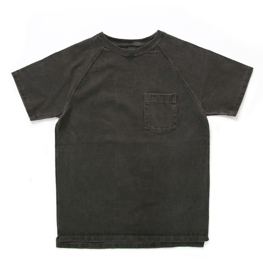 Raglan Heavy Pocket T-Shirts - P-Black