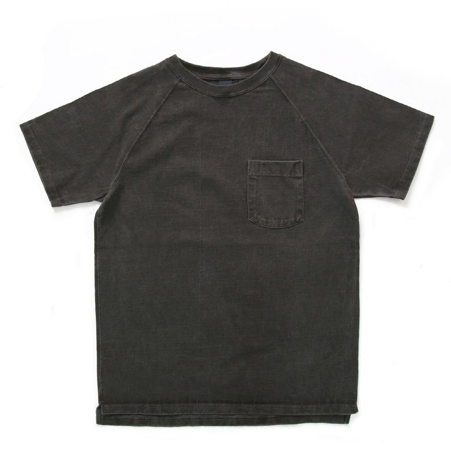 9oz 헤비코튼 포켓 반팔 티셔츠 - 피그먼트 블랙