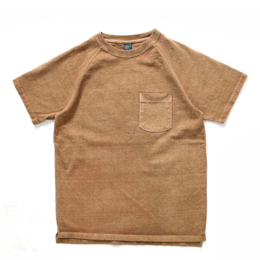 9oz 헤비코튼 포켓 반팔 티셔츠 - 피그먼트 모카