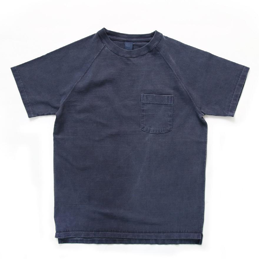 9oz 헤비코튼 포켓 반팔 티셔츠 - 피그먼트 네이비