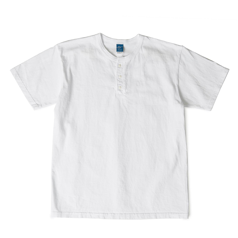 헨리넥 반팔 티셔츠 - 화이트