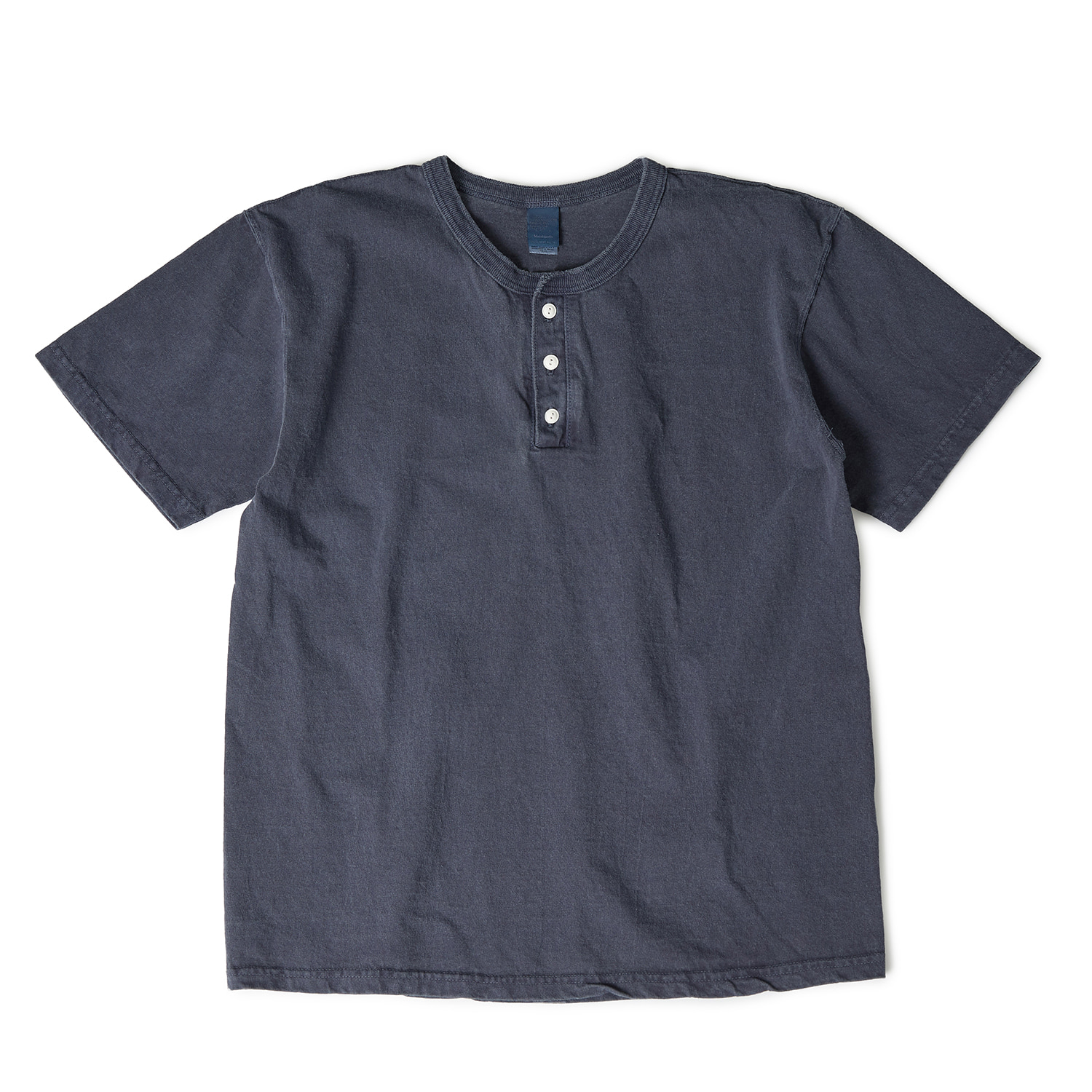 Henley Neck T-shirts - P-Navy