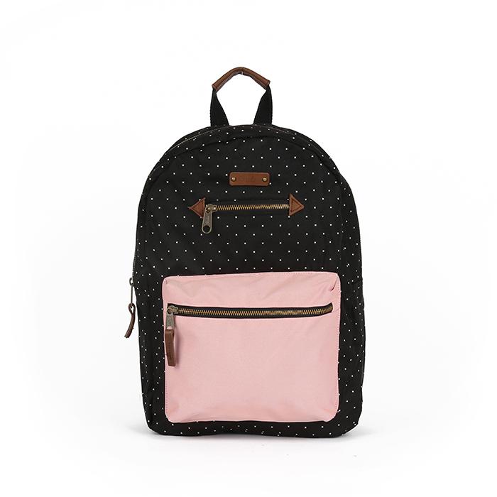 블랑쉬 백팩 - 블랙/핑크