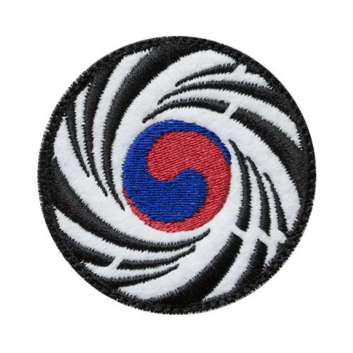 원형 회호리태극기 M 패치 - Color