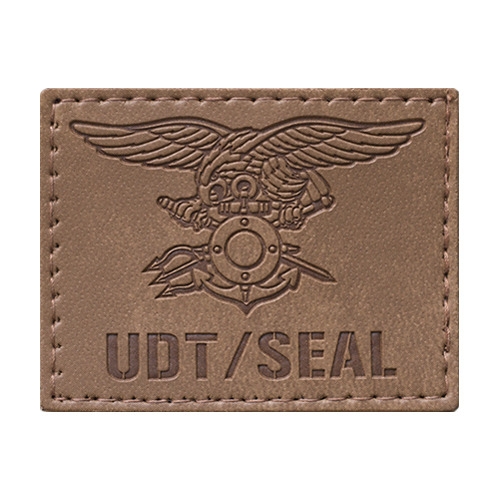 UDT/SEAL 공식마크 가죽버전 - Desert