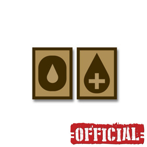 혈액형 O+ PVC 패치 - Desert