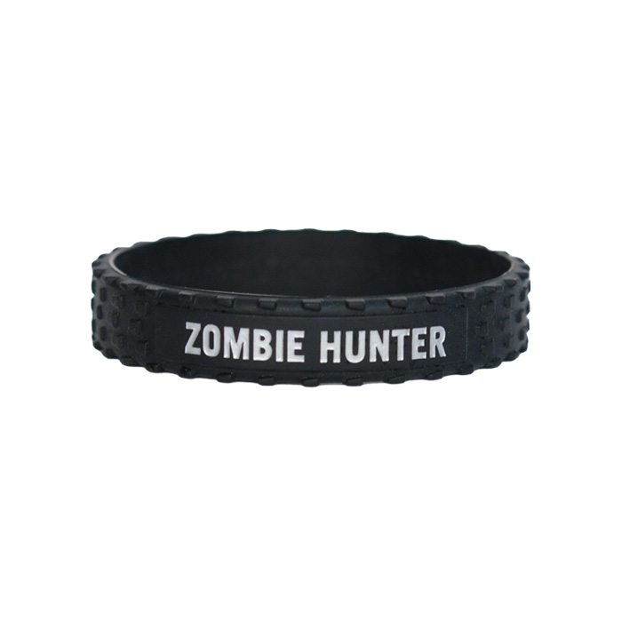 Zombie Hunter Band_M - Black-SilverText