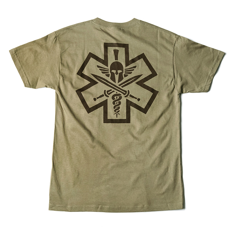 Tac-Med Spartan T-shirt - Dusty Brown