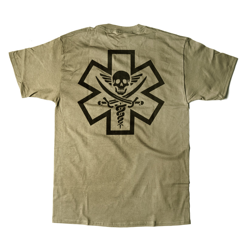 Tac-Med Pirate T-shirt - Dusty Brown