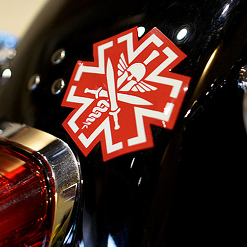 TacMed Spartan Decal Sticker - Red