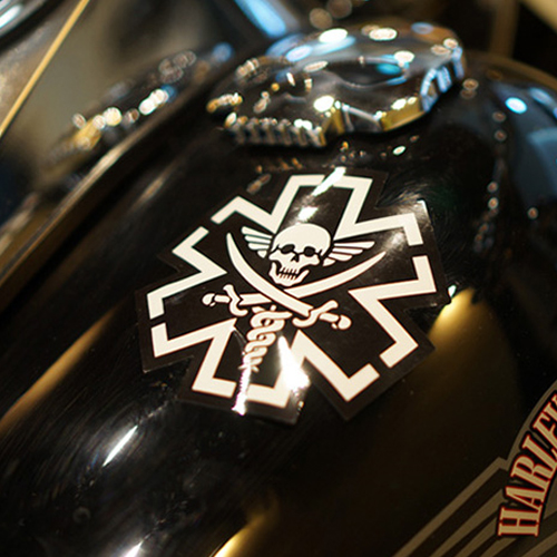 TacMed Pirate Decal Sticker - Swat