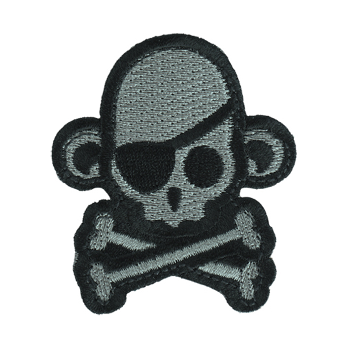 원숭이 해적 해골 패치 - ACU패치 -Dark