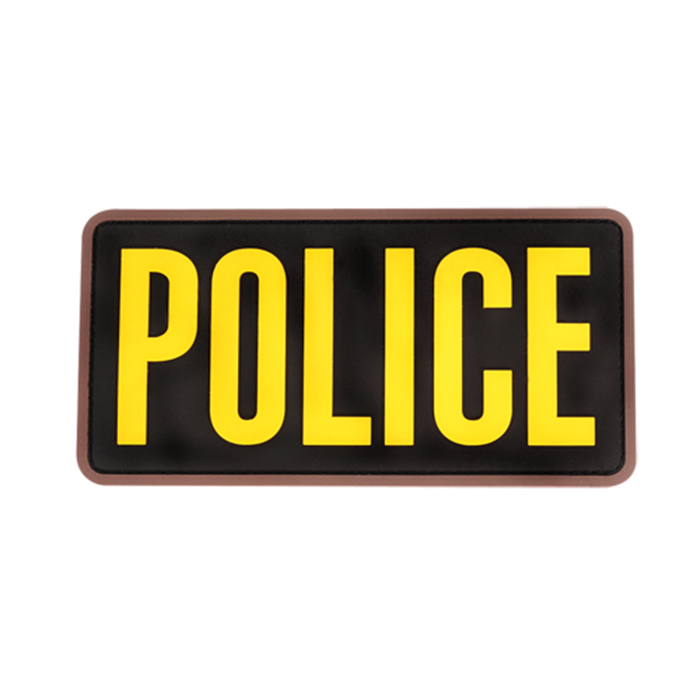 POLICE 6x3 inch PVC - Gold