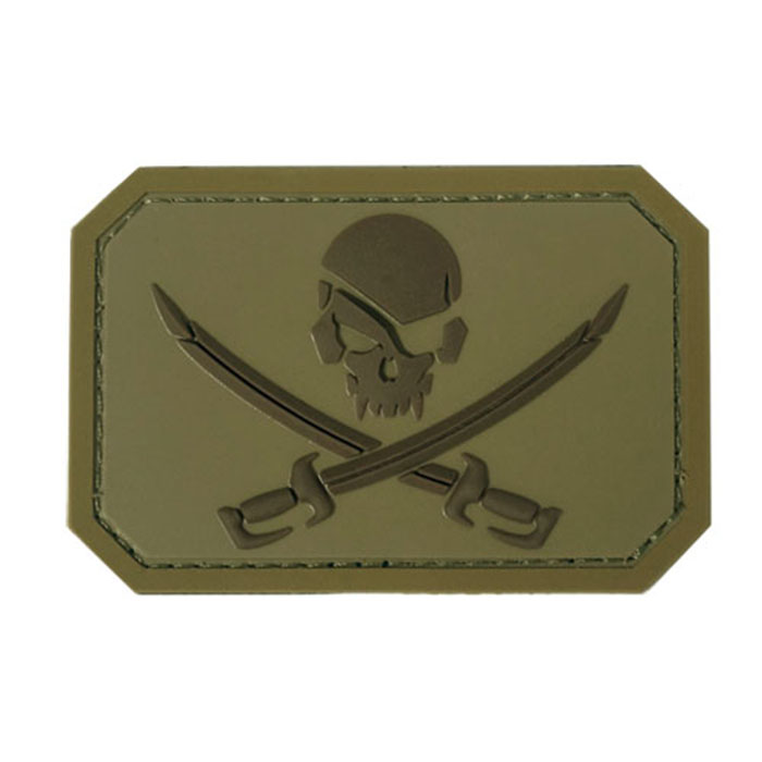카리브해 해적 깃발 PVC 패치 - Desert
