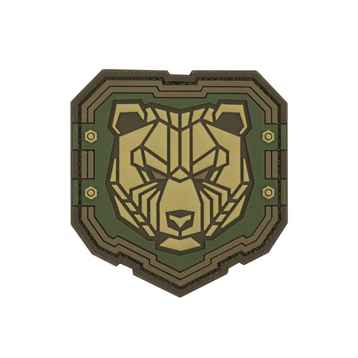 인더스트리얼 곰 PVC 패치 - Multicam