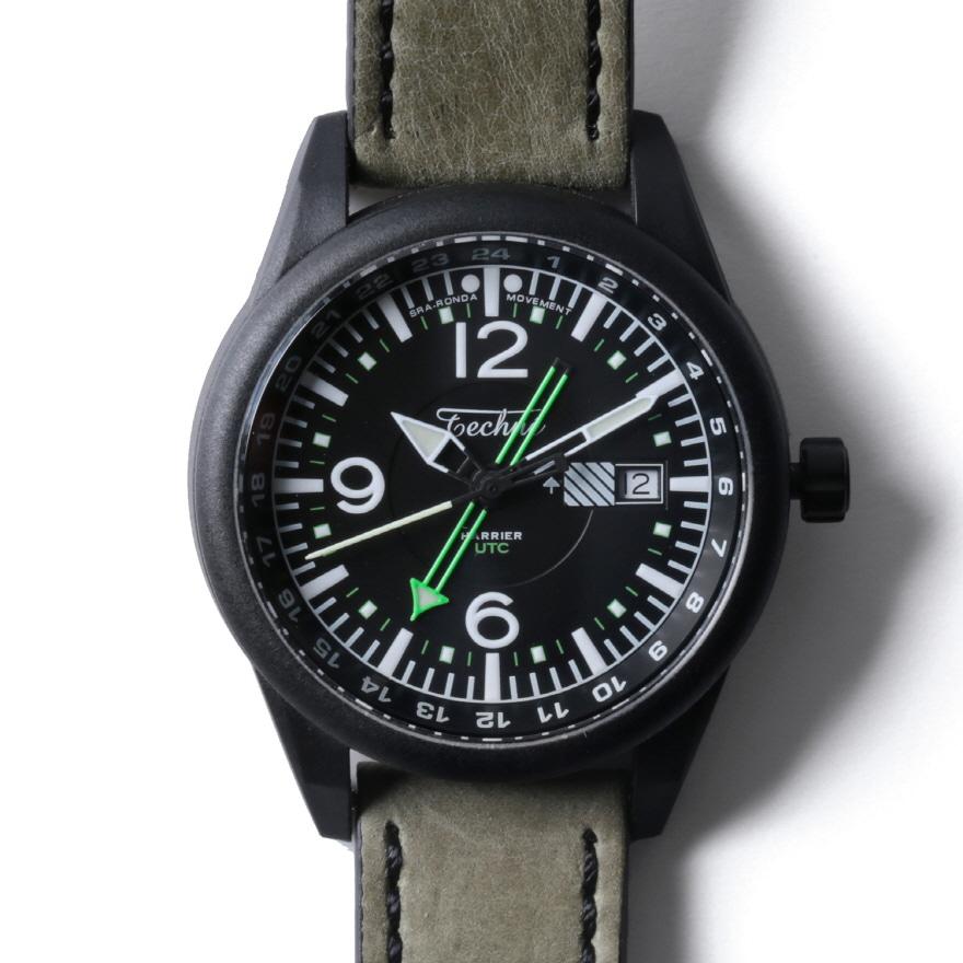 해리어 368 카본 GMT - 레더 스트랩 샌드 PVD