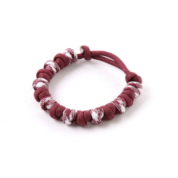 Love Tie Bracelet - Burgundy White