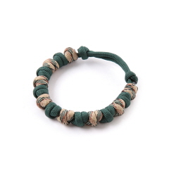 Love Tie Bracelet - Deep Green Camo