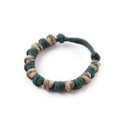 Love Tie Bracelet - Deep Green Camo