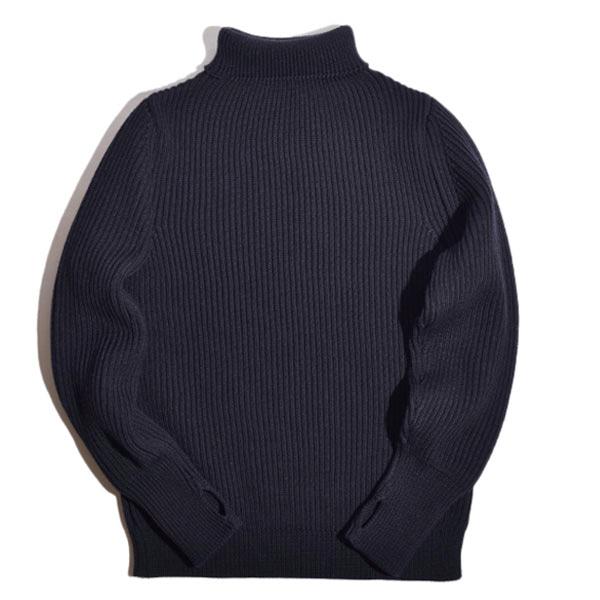 [진열상품] Navy Turtleneck - Navy Blue