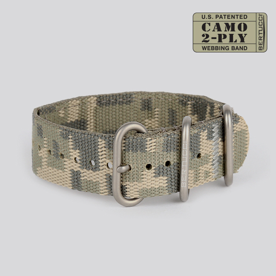 CAMO 2-PLY Webbing Band - #64DC digicam