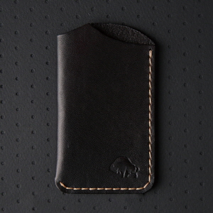No.1 Wallet - Jet top stitch