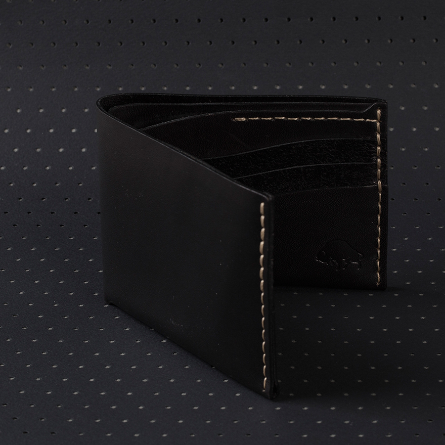 No.8 Wallet - Jet top stitch