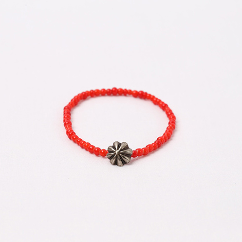 Small Concho Beads Bracelet - Red