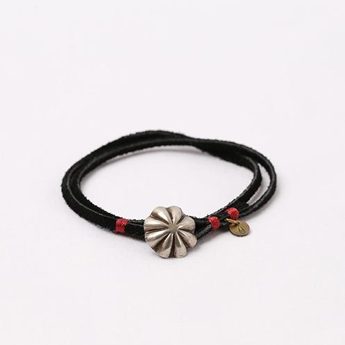 Concho Suede Bracelet - Black