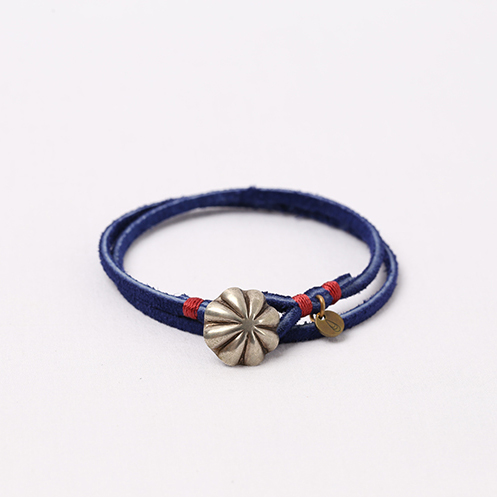 Concho Suede Bracelet - Navy