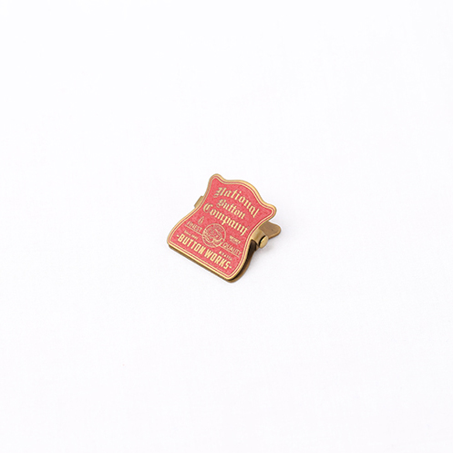 Brass Paper Mini Clip - Red