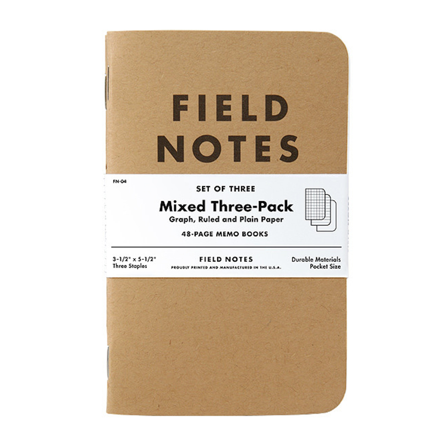 FIELD NOTES,Refurb Original Mixed [3-Pack]