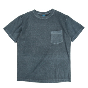 Crew Neck Pocket T-shirts - P-Slate