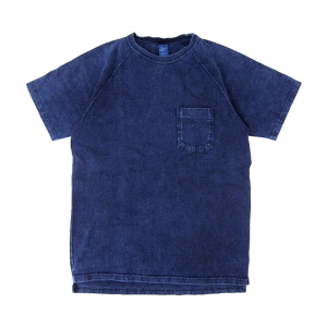 Raglan Heavy Pocket T-Shirts - Indigo
