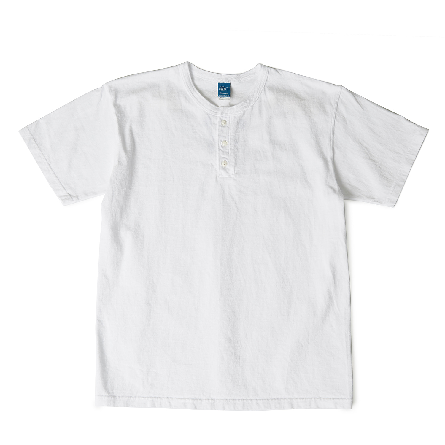 Henley Neck T-shirts - White
