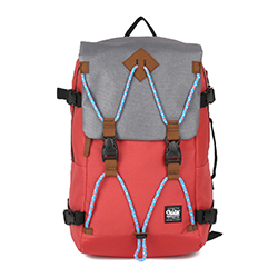 ALBERT Backpack - Grey/Red