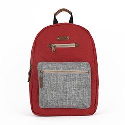 BLANCHE Backpack - Red/Grey