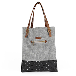 BERENICE Tote Bag - Grey/Black