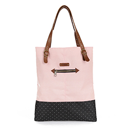BERENICE Tote Bag - Pink/Black