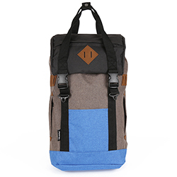 ARTHUR-M Backpack - Brown/Blue