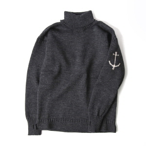 Guernsey Turtleneck Sweater - Charcoal