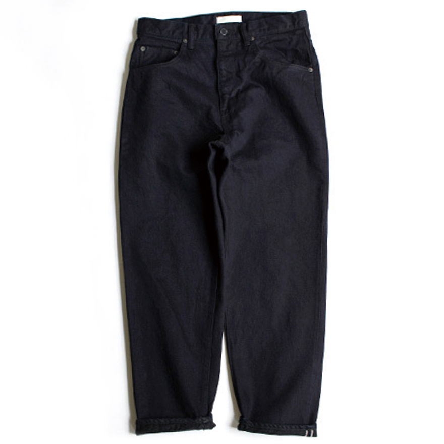 Loose Tapered Denim - Indigo Black