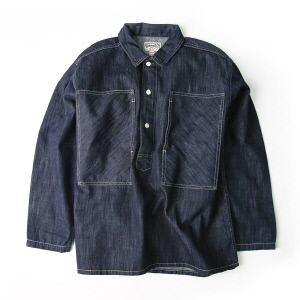 Denim Pullover Shirts - Indigo