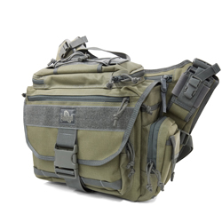 Roadrunner Messenger Bag - Khaki Foliage