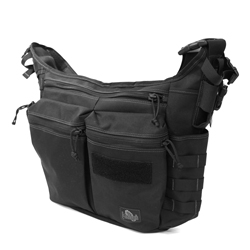 Racing Pigeon Messenger Bag - Black