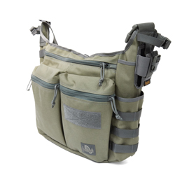 Racing Pigeon Messenger Bag - Khaki Foliage