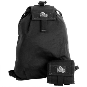 Folding Backpack Pouch - Black