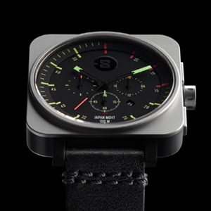Square Chrono - Black / Bright