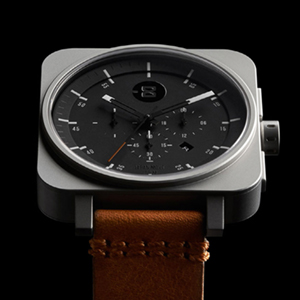 Square Chrono - Silver / Black